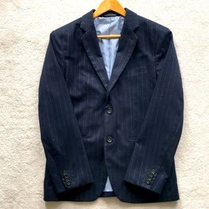 Banana Republic pinstripes navy blue slim blazer